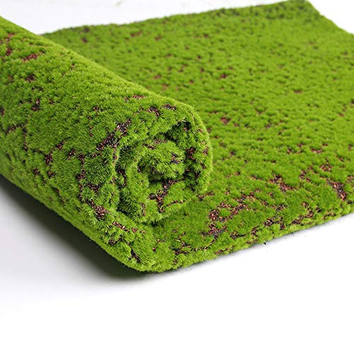 Aquarius CiCi Artificial Realistic Moss Grass Rug, Realistic Artificial Green Turf for Indoor Outdoor Decoration Dog Grass Mat 6.5x3.2 ft (Rug Moss Green)