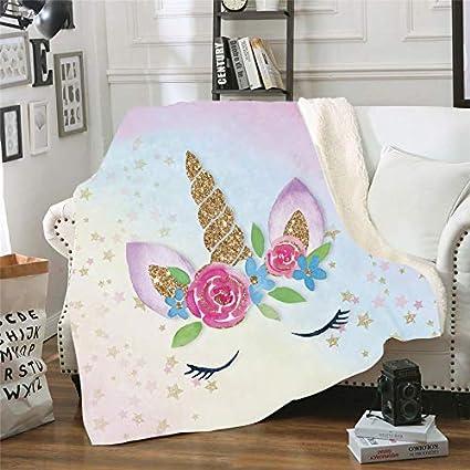 Amazon.com: Manta de terciopelo suave y cómoda con estampado ...