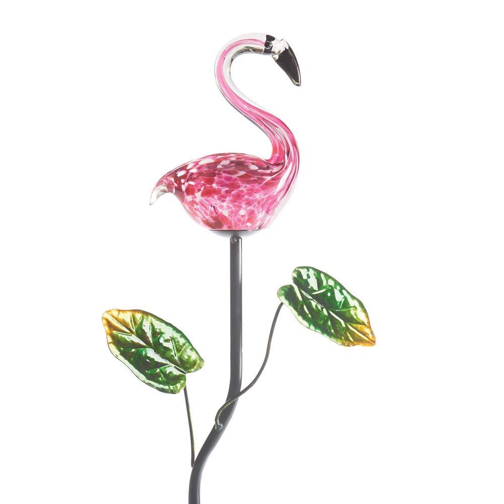 ART & ARTIFACT Pink Flamingo Garden Stake - Lighted Solar Powered Lawn Ornament
