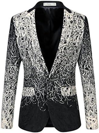 MOGU Mens One Button Blazer Wool Jacket