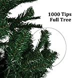Holiday Essence Premium Quality 6 Foot Green Artificial Christmas Tree - 1,000 Tips - Metal Base - Unlit