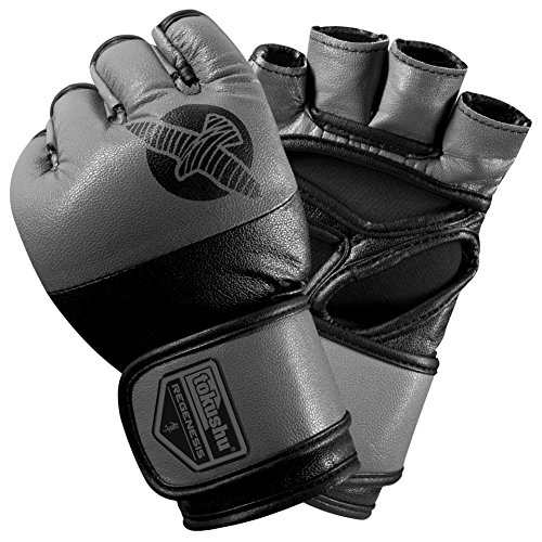 Hayabusa Tokushu Regenesis 4oz MMA Gloves, Black/Grey, Small