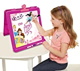 Disney Princess Heart Strong Little Artist Tabletop Easel with 3 Dry Erase Markers