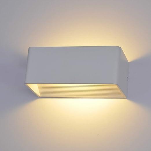 VOVOVO Aplique Pared Interior LED 7W Lámpara Blanco Cálido AC 220V Acrílico para Salon Dormitorio Sala Pasillo Escalera 20cm: Amazon.es: Hogar