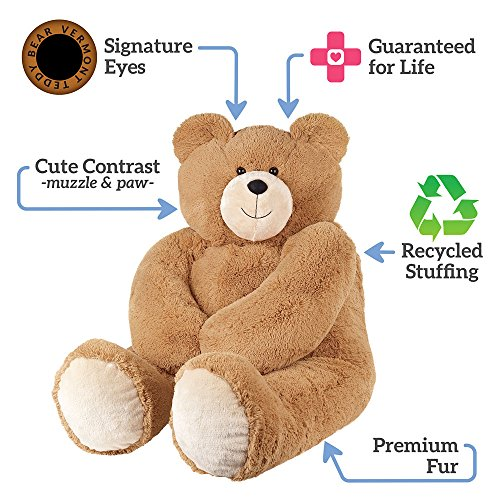 51l6LT8 idL - Vermont Teddy Bear - Huge Love Bear, 6 Feet Tall, Brown