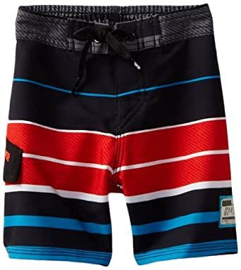 Quiksilver Baby-boys Infant Way Point Boardshort, Black, 6-9 Months