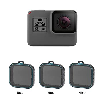 AuyKoo - Juego de 3 Protectores de Objetivo ND (ND4 ND8 ND16) Filtro de