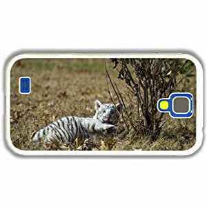 Customized Samsung Galaxy S4 S iv 9500 Hard Shell Cover Case Diy Personalized Designtiger cub predator White