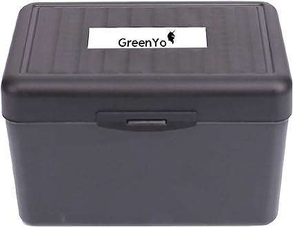 Green Office Index - Caja para tarjetas (15,2 x 10,2 cm), color gris transparente: Amazon.es: Oficina y papelería
