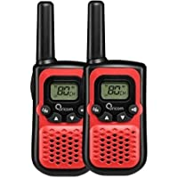 ORICOM PMR780 Handheld UHF Two Way Compact Radio WALKIE Twin Pack 80 Channel RED …