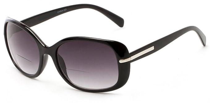 9e4d5dfc78 +2.00 Womens Bifocal Reading Sunglasses Sun Readers Metal Side Trim Black Glasses  UV400 Gradient Tinted Lens + Case  Amazon.co.uk  Health   Personal Care