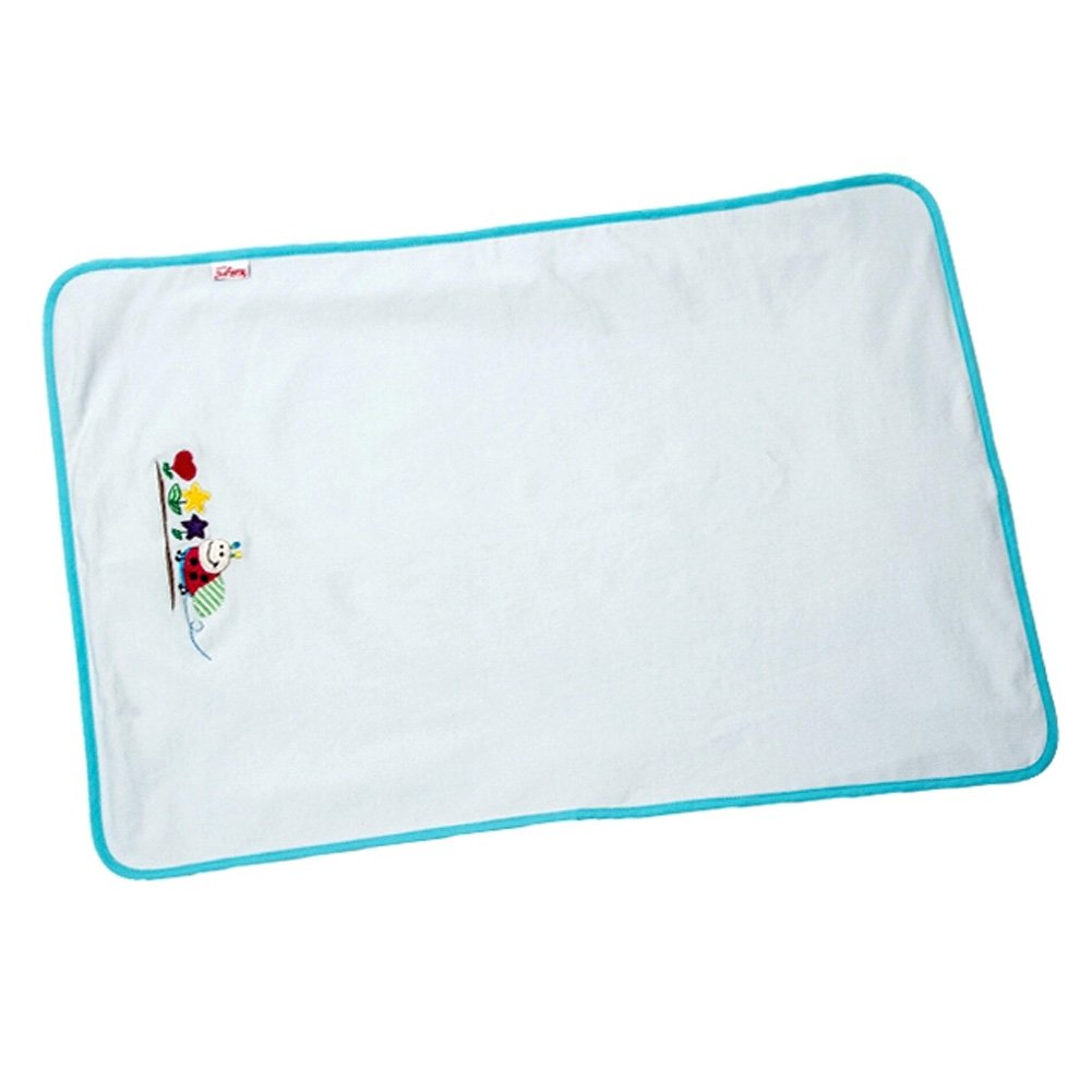 Baby Waterproof Breathable Cotton Urine Pad 6951(light blue)