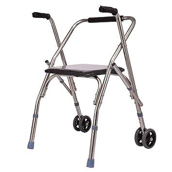 HGBKJUO Andadores Ancianos Plegable, Rollator de Seguridad para ...