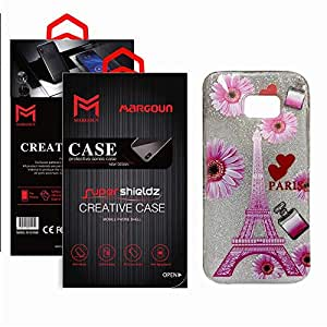 Margoun for Samsung galaxy S7 Edge (5.5 inches), G935F, G935FD, G9350, G935W8 Soft TPU Back Cover case with paris Design, Scratch resistant backcover - MG01