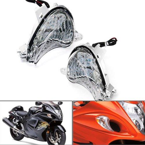 Amber LED Turn Signal Indicator Blinker Light for Suzuki Racing Bike HAYABUSA 2x