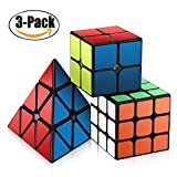 Kyпить Speed Cube Set, Roxenda Magic Cube Set of 2x2x2 3x3x3 Pyramid Smooth Puzzle Cube на Amazon.com