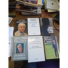 Lot de 6 livres de et sur édouard Balladur