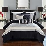 Black and Tan Comforter Sets King Chic Home Diamante 8 Piece Comforter Set, King, Tan, 8