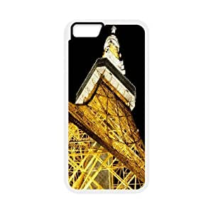 iPhone 6 Plus Case, Men Cool tokyo tower 2 Case For iPhone 6 Plus {White}