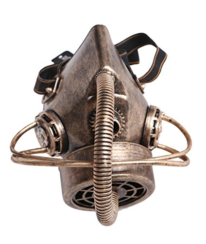 Arsimus Steampunk Rustic Copper Respirator Tube Gas Mask Elastic Band -