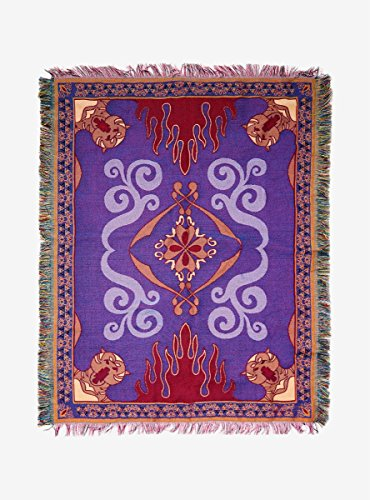 Hot Topic Disney Aladdin Magic Carpet Woven Tapestry Throw Blanket Disneys Aladdin Magic Carpet