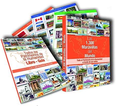Colección 1300 Maravillas del Mundo.1.300 sellos autoadhesivos presentados en 80 láminas: Amazon.es: Juguetes y juegos