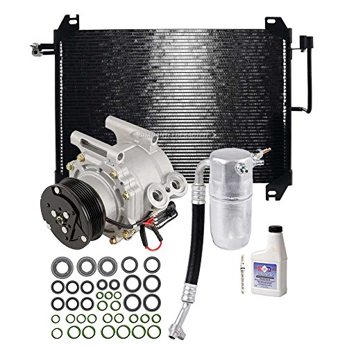 Gmc Envoy A/c Condenser (Brand New Complete A/C Kit W/ AC Compressor Condenser & Drier For GM 4.2L SUV - BuyAutoParts 60-82471CK New)