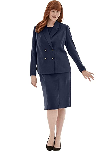 Jessica Londres de la Mujer Plus tamaño 2 Piezas Chaqueta Vestido - Azul -: Amazon.es: Ropa y accesorios