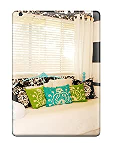 shameeza jamaludeen's Shop Snap-on Teen8217s Contemporary Bedroom With Teal Iron Sofa 038 Black 038 White Striped Wall Case Cover Skin Compatible With Ipad Air 8718223K65486791