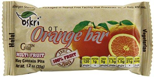 Oskri Fruit Bars, Orange, 1.2 Ounce (Pack of 30)