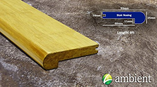 Bamboo Stair Nosing - Strand Bamboo Stair Nose Natural 9/16