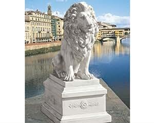 """28""""Classic León de Florencia Sentinel Home Garden Escultura Estatua y Base de 13"""""""