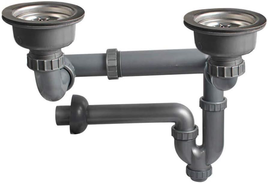 Talea Kitchen Double Sink Waste Kit Trap Sink Strainer 110mm Amazon Com