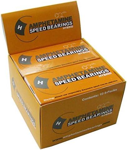 Amazon Com Amphetamine Hybrid Ceramic Packaged Bearings Box Of 10 Sports Outdoors