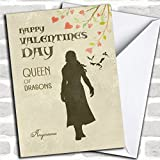 Game Of Thrones Queen Of Dragons Valentines Personalized Greetings Card