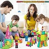 HOMOFY Kids Magnet TilesToys 75Pcs Oversize 3D