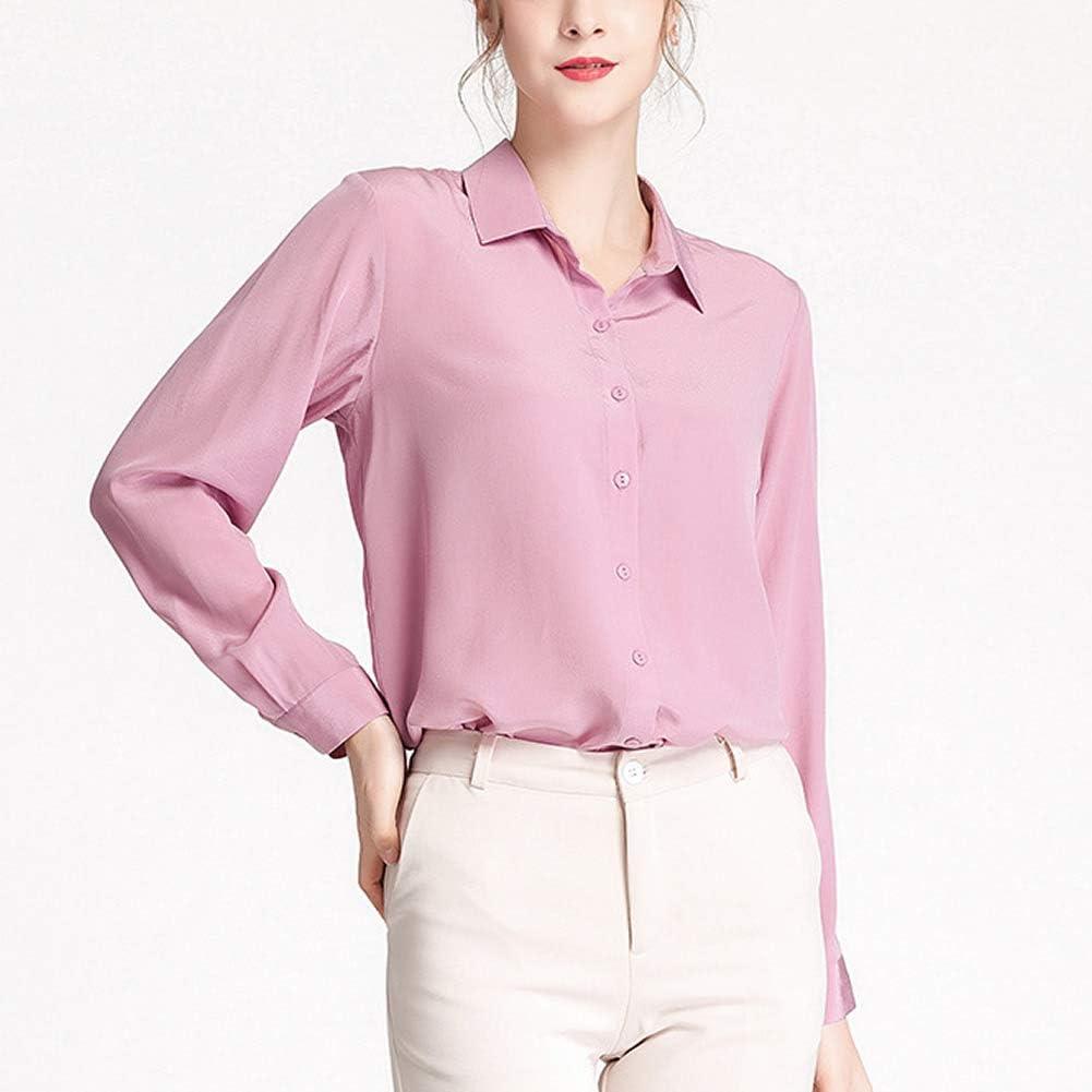 Valin Plain Women Silk Blouse Top Loose Cardigan Sleeveless Silk Shirt Top,BS20010 Light Purple