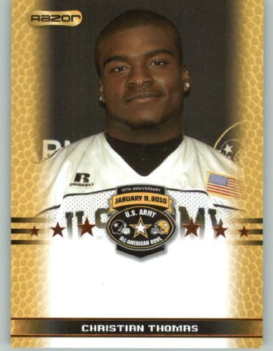 Christian Thomas TE / USC - Highland High School Palmdale CA - 2010 Razor US Army All-American Bowl Promo Football Card (Limited to - Palmdale Stores