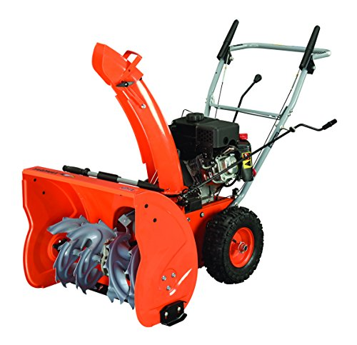 Two-stage snow blower in a deep tone of Orange.