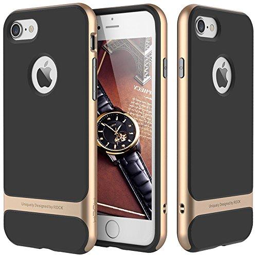 Slim Fit Hybrid Case for Apple iPhone 6/6s (Gold/Black) - 5