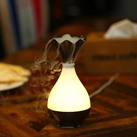 Mini Aroma Diffuser Aromatherapie Duftlampe 500ml Luftbefeuchter LED Weiß