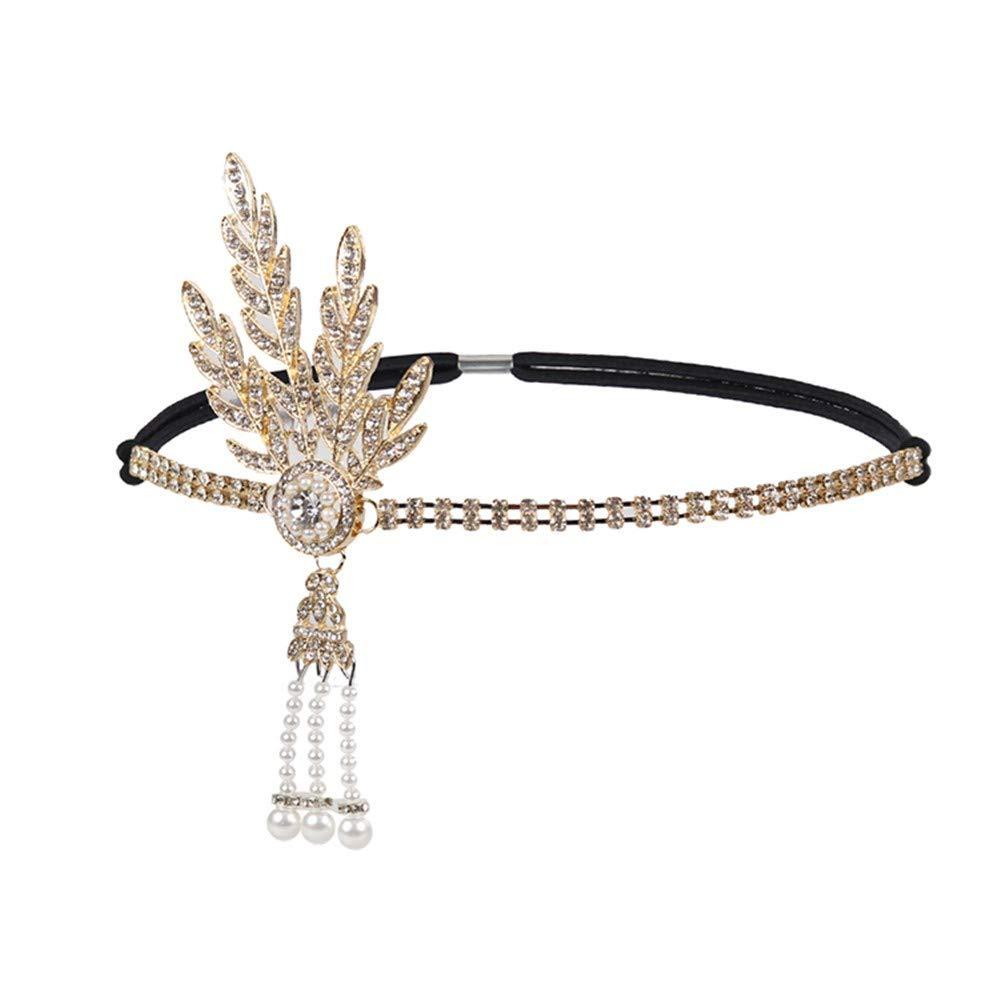 URSING Frauen Haarschmuck Stirnband Damen Perle Anhänger Charleston Party Braut Haarreif Hochzeit Bohemien Kopfschmuck Hochzeit Stirnbänder Haar Accessoires Kopfbedeckungen