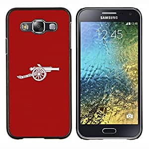 Qstar Arte & diseño plástico duro Fundas Cover Cubre Hard Case Cover para Samsung Galaxy E5 E500 (Minimalista Cañón)