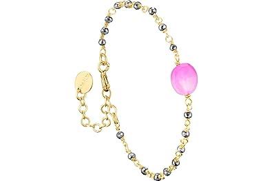 15aa3e8a5c925 Une à Une Bracelet chaîne & Pierre Inde, dorure Or 18K, Fushia ...