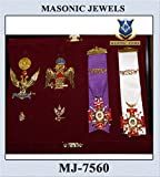 Masonic 33rd Degree Pins,Jewels & Medals Set in Hard Presentation Box