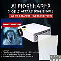 Atmosfearfx Ghostly Apparations Window FX SD Card Video Projector Bundle with Built In SD Card Media Player