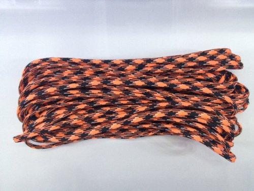 100 Ft Parachute Cord Nylon 7 Strand 550lb Tested U.S MADE 100' (Orange You Happy)