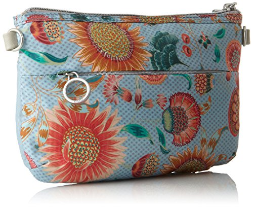 Oilily Charm Sunflower Shoulderbag Shz 2 - Borse a spalla Donna, Blu (Light Blue), 2x15x25 cm (B x H T)