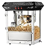 Great Northern Popcorn Old Time Popcorn Popper Machine Countertop, 8-Ounce, Black