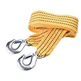 Bluecell Heavy Duty Polyester Tow Strap with Safety Hooks 5 Ton Capacity (2'' x 10')